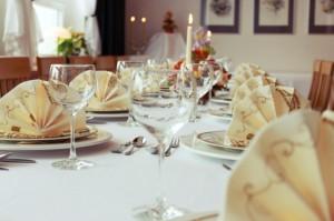 Tischdekoration im Clubraum