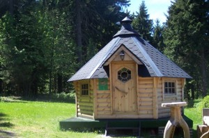 Finnische Grillhütte