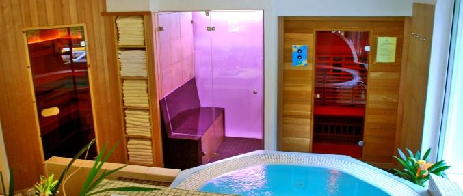 Finnische Sauna, Dampfbad und Infrarot-Kabine